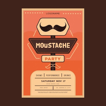 Volantino / poster di movember