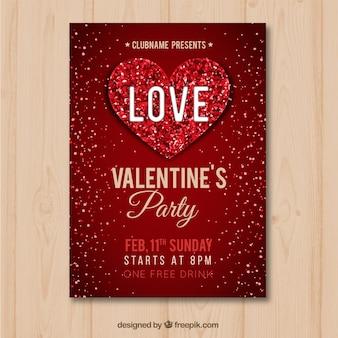 Volantino / poster piatto di san valentino