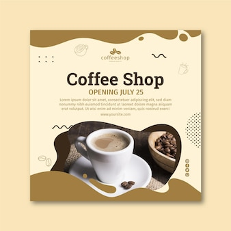 Volantino quadrato caffetteria