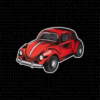 Volkswagen disegnare a mano classico