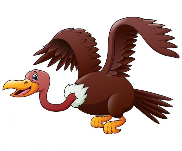 Volo dell'avvoltoio del fumetto isolato