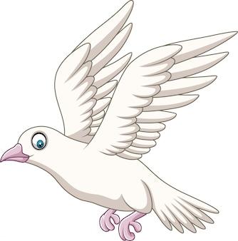 Volo felice della colomba del fumetto