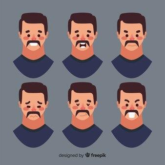 Volti dell'uomo con diverse emozioni