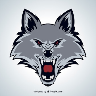 Volto selvaggio del lupo