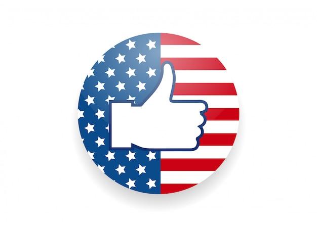 Vota nelle elezioni americane presidente come pulsante