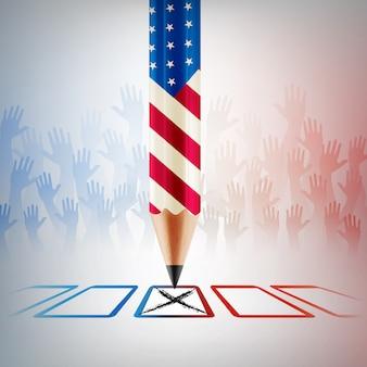 Voto degli stati uniti. giorno delle elezioni americane