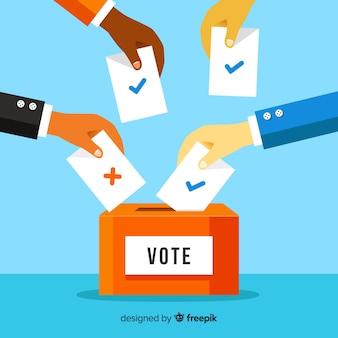 Voto e concetto di elezione con scatola