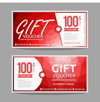 Voucher regalo di colore gradiente moderno