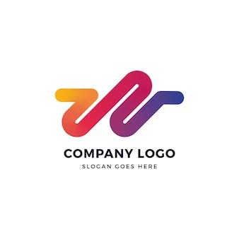 W letter gradient logo design