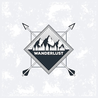 Wanderlust avventura logo