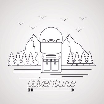 Wanderlust esplora paesaggi avventurosi