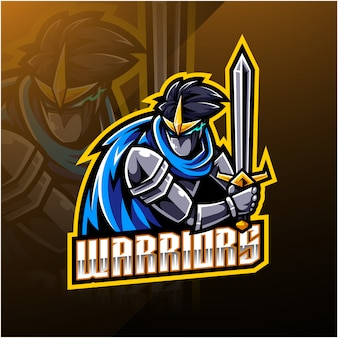 Warriors sport logo design mascotte