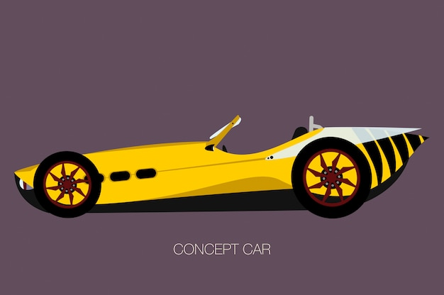 Wasp sport car, spider vector car, cabriolet