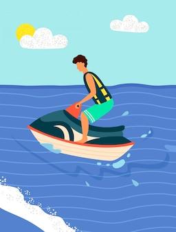 Water bike ricreazioni sportive estive. spiaggia
