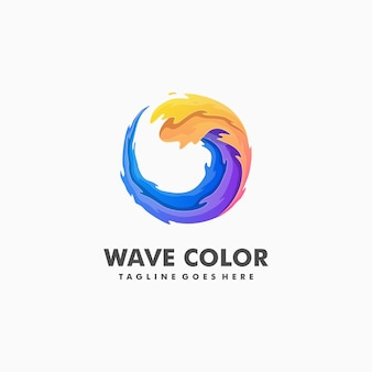 Wave colorful illustration vector