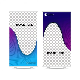 Wave roll up banner