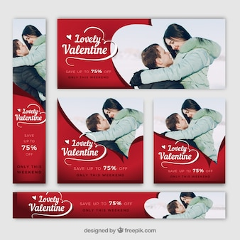 Web della bandiera di San Valentino