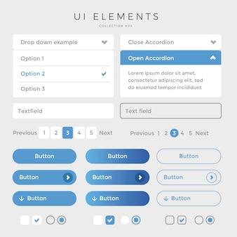 Web design degli elementi dell'interfaccia utente