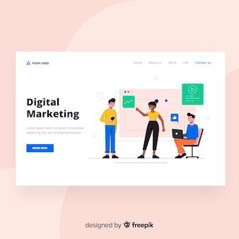 Web design della pagina di destinazione del marketing digitale