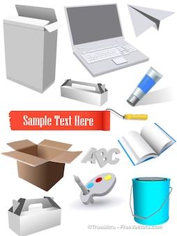 Web set di icone vettoriali