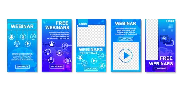 Webinar gratuito, concetto di formazione online distante.