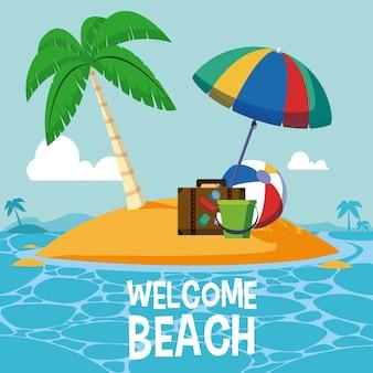 Welcome beach card