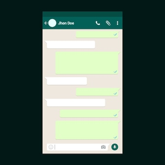 Whatsapp chat template