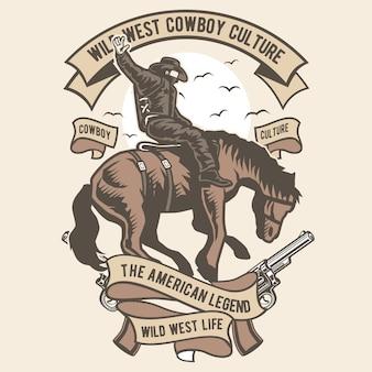 Wild west cowboy culture