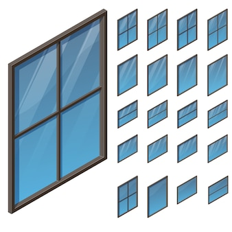 Windows in vista assonometrica