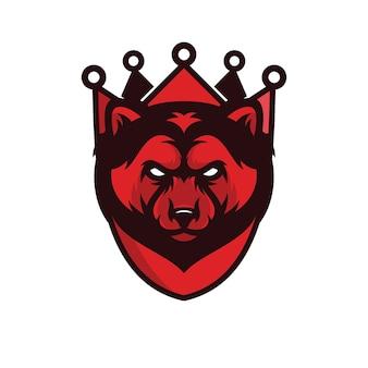 Wolverine - logo vettoriale / icona illustrazione mascotte