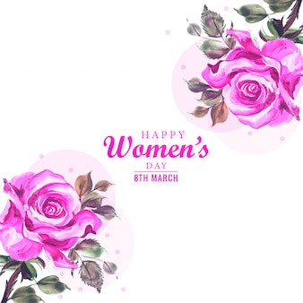 Womens day card con motivo floreale decorativo