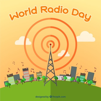 World radio day background