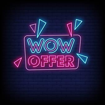 Wow offer insegna al neon