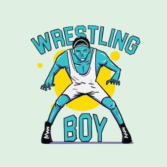 Wrestling boy symbol