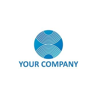 X lettera striscia sulla sfera sfera o cerchio modello logo aziendale generico