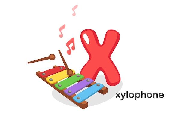 X per xilofono