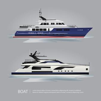 Yacht turistico della barca del trasporto da viaggiare illustrazione di vettore