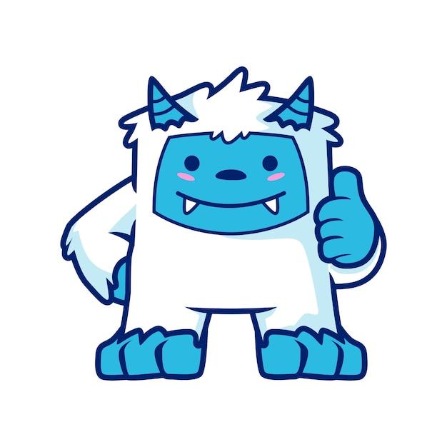 Yeti mascot design