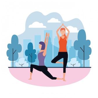 Yoga delle donne pone