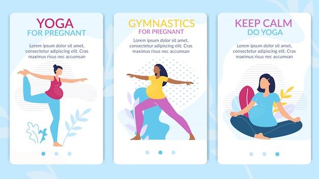 Yoga, ginnastica per set di pagine web in gravidanza