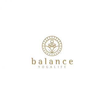 Yoga logo silhouette yoga, benessere