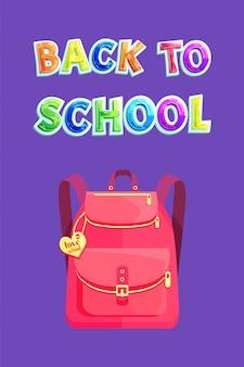 Zaino girlish con cuore, ritorno a scuola