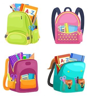 Zaino scuola colorato torna a scuola