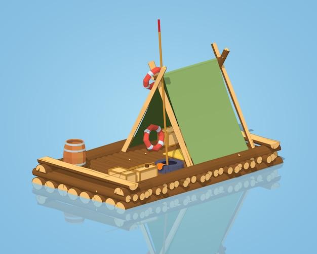 Zattera di legno