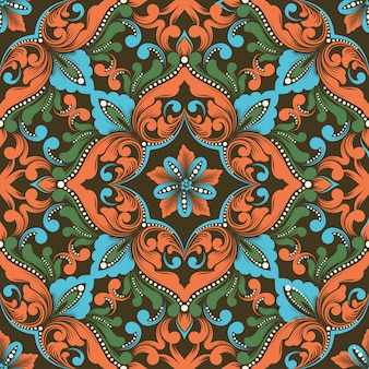 Zentangle seamless pattern element.