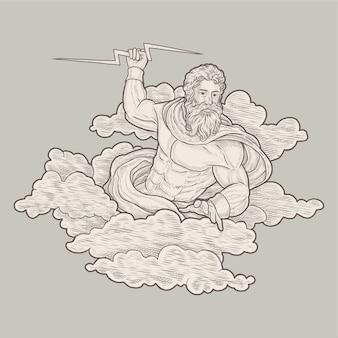 Zeus illustrazione vintage