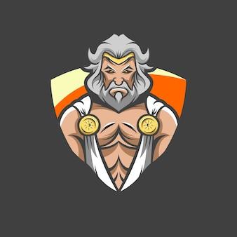Zeus logo illustrazione