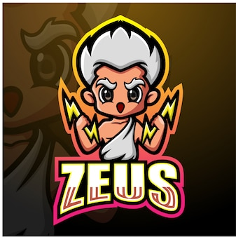 Zeus mascot esport illustrazione