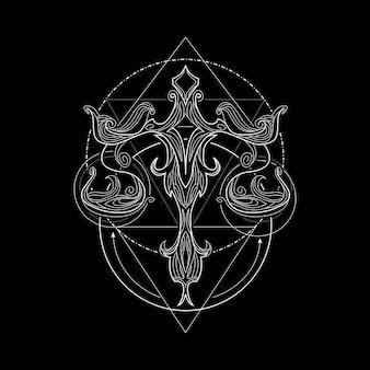 Zodiac libra geometri style