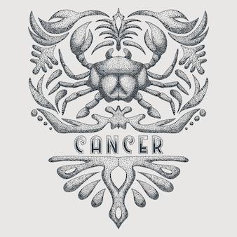 Zodiaco del cancro vintage